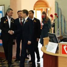 А. Тихомиров встречает делегацию  правительства Амурской области и КНР