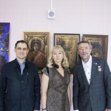 с К.Петровымна выставке -Вознесение Господне 2015
